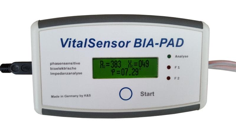 Vitalsensor BIA-PAD zur phasensensitiven bioelektrischen Impedanzanalyse