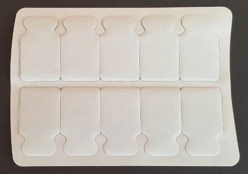 10 BIA-Elektroden auf Folie.
